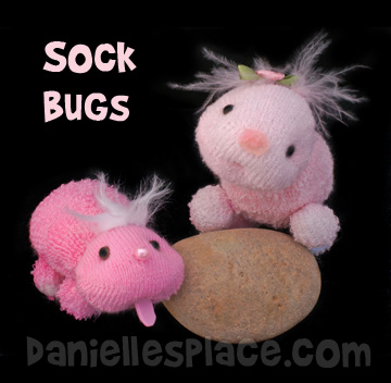 sock bug craft www.daniellesplace.com
