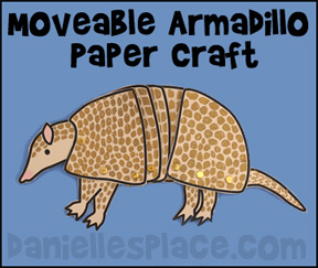 Three-banded Armadillo Moveable Craft www.daniellesplace.com