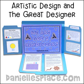 Creativity File Folder Art Lesson from www.daniellesplace.com