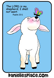 Free Bible Lesson for Sunday School - Psalm 23