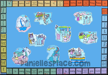 Gathering Manna Bible Game Board for Sunday School from www.daniellesplace.com