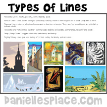 Types of Lines Printable Sheet for Home School www.daniellesplace.com