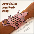 Armadillo Arm Band Craft for Kids