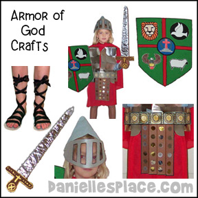 Armor of God Crafts and Activities from www.daniellesplace.com