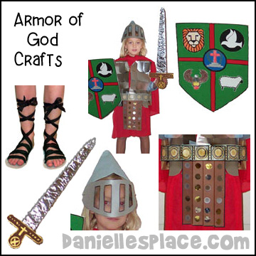 Armor of God Bible Crafts for Sunday School from www.daniellesplace.com