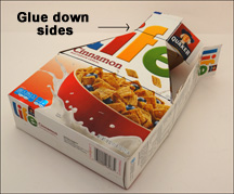 cereal box diagram