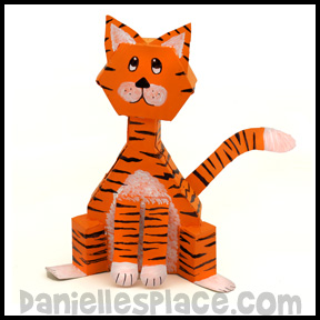 Cereal Box Cat Craft www.daniellesplace.com