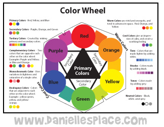 Color Wheel www.daniellesplace.com