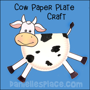 Cow Paper Plate Craft www.daniellesplace.com