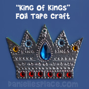 King of Kings Foil Tape Crown Bible Craft for Sunday School from www.daniellesplace.com