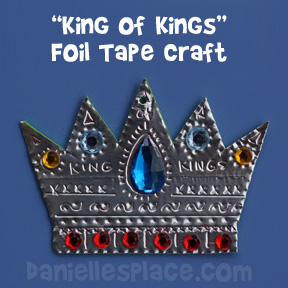 Crown Craft - King of Kings Foil Bible Craft for Sunday School