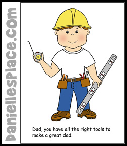father's Day Card Craft - All the Right Tool from www.daniellesplace.com