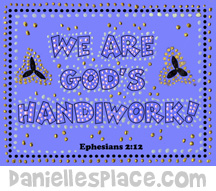 Bible Verse Dot Craft- Christian Art Lessons for Children from www.daniellesplace.com
