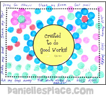 Dot Art Bible Verse Craft