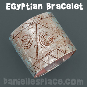 Egyptian Bracelet Craft www.daniellesplace.com