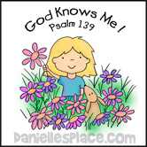 Free Sunday School Bible Lesson - God Knows Me - Psalm 139