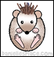 Hedgehog Paper Craft for Kids www.daniellesplace.com
