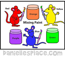 Mouse Paint Coloring Sheet www.daniellesplace.com