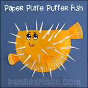 Puffer Fish Paper Plate Craft for Kids from www.daniellesplace.com
