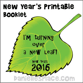 I'm Turning Over a New Leaf Printable New Years Booklet from www.daniellesplace.com