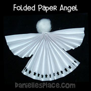 Folded Angel Craft for kids from www.daniellesplace.com
