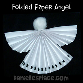 Angel Craft - Folded Paper Angel Craft from www.daniellesplace.com