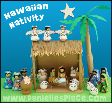 Hawaiian Nativity Craft from www.daniellesplace.com