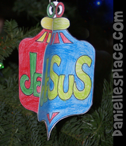 3D Paper Christmas Ornament Craft for Kids from www.daniellesplace.com