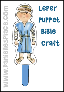 Leper Puppet Bible Craft from www.daniellesplace.com