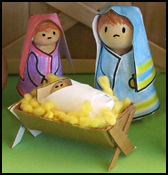 Mary and Joseph Nativity Peg Dolls
