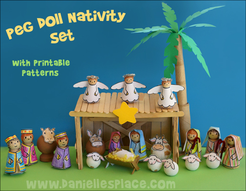 Peg Doll Nativity Printable Set