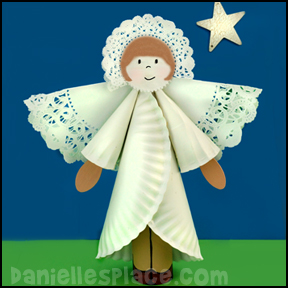 Paper Plate Angel Ornament Craft from www.daniellesplace.com