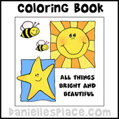 All Things Bright and Beautiful Coloring Book Craft from www.daniellesplace.com