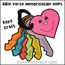 Bible Verse Memorization Keys Craft from www.daniellesplace.com