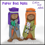 Cain and Abel Paper Bag Dolls Craft from www.daniellesplace.com