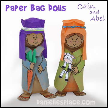 cain and abel paper plate dolls bible craft for childrens sunday school from wwwdaniellesplace