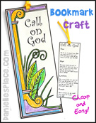 """Call on God"" Bookmark Craft for Children"