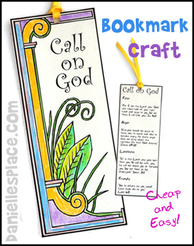 Call on God Bible Bookmark Craft for Sunday School from www.daniellesplace.com