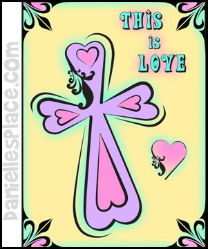 cross color sheet this is love from www.daniellesplace.com