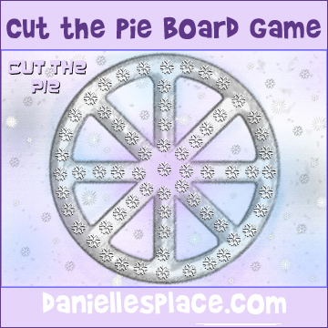 Cut the Pie Printable Board Game from www.daniellesplace. - Use this board game to review math facts, spelling words, lessons, etc.