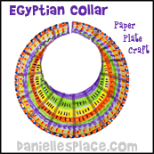Paper Plate Egyptian Collar Craft for Sunday School from www.daniellesplace.com