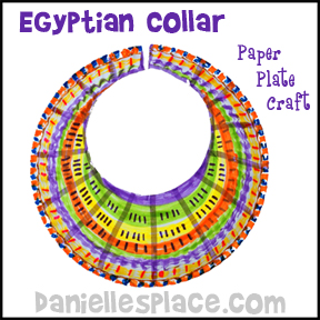 Egyptian Collar Paper Plate Craft from www.daniellesplace.com