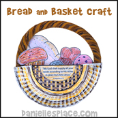 Bread Basket Paper Plate Craft from www.daniellesplace.com