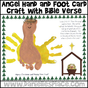 Hand Foot Angel Craft with Bible Verse Craft from www.daniellesplace.com