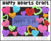 Happy Hearts Frame Bible Craft for Sunday School from www.daniellesplace.com