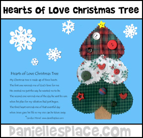 Heart Christmas Tree with Poem Craft for Kids from www.daniellesplace.com