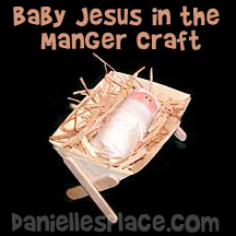 Baby Jesus in a Manger Bible Craft for Sunday School from www.daniellesplace.com