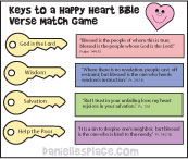 Keys to a Happy Heart Bible Game for Sunday School from www.daniellesplace.com