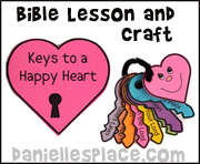 Keys to a Happy Heart Craft from www.daniellesplace.com