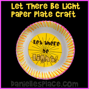 Let There Be Light Paper Plate Craft